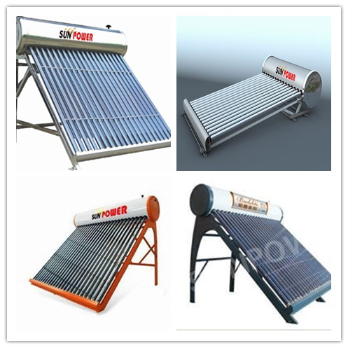 small Low Pressure vacuum tube Solar Water Heater