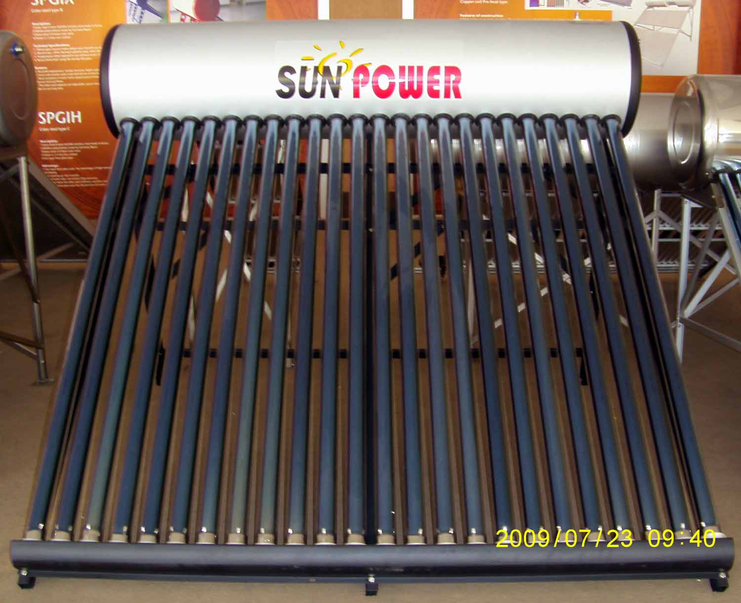Unpressurized open loop vacuum tube Solar Water Heater