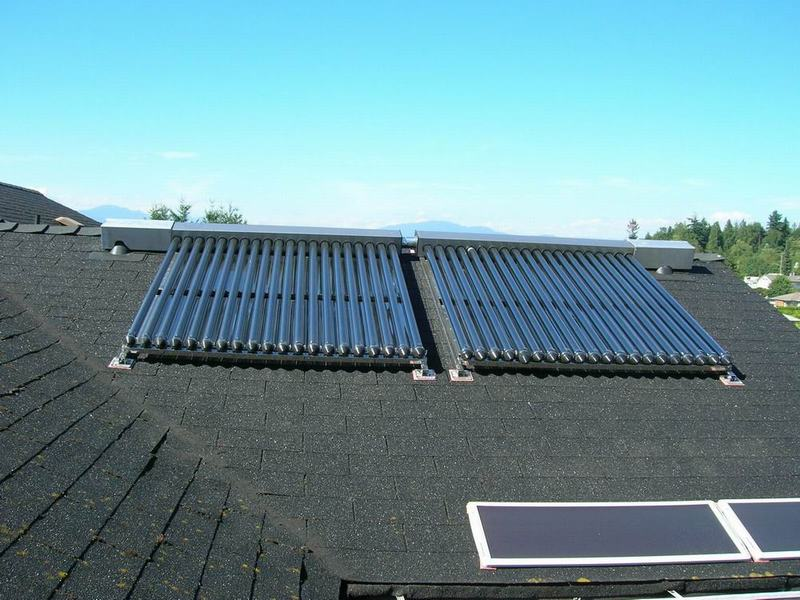 Residential Tankless Heat Pipe Solar Water Heater