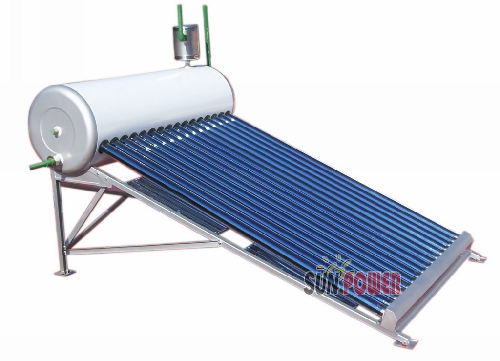 outdoor Non-pressure evacuated tube Solar Water Heater