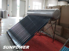 natural Low Pressure commercial Solar Water Heater