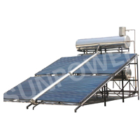 Project powerful vacuum tube Solar Water Heater