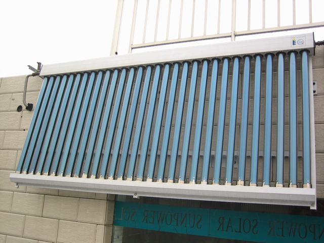 balcony Galvanized Steel heat pipe solar water heater