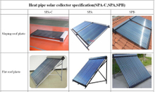 Project Type pressurized heat pipe Solar Collector